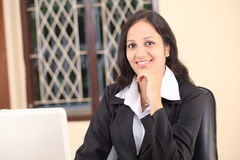 Relaxed business woman Stock Photo