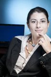 Relaxed business woman Royalty Free Stock Images