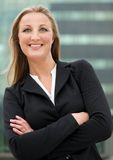 Relaxed business woman Stock Images
