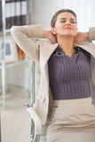 Relaxed business woman at work Royalty Free Stock Photos