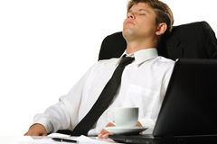 The relaxed businessman Stock Photo