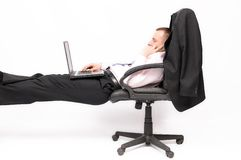 Relaxed businessman Stock Photography