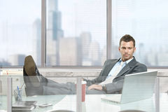 Relaxed businessman Royalty Free Stock Images