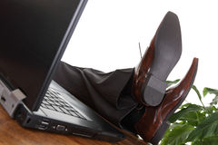 Relaxed businessman Royalty Free Stock Photography
