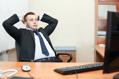 Relaxed businessman Stock Images