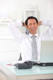 Relaxed businessman Stock Photos
