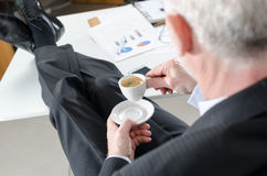 Relaxed businessman during a break Stock Photo