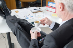 Relaxed businessman during a break Royalty Free Stock Photos