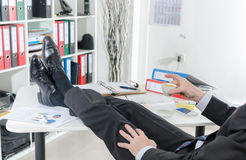 Relaxed businessman during a break Royalty Free Stock Image