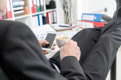 Relaxed businessman during a break Stock Photography
