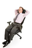 Relaxed Businessman Ergonomics Stock Photography