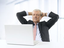 Relaxed businessman portrait Stock Photography