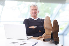 Relaxed businessman Royalty Free Stock Image