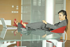 Relaxed businesswoman Royalty Free Stock Photo