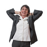 Relaxed businesswoman Stock Photography
