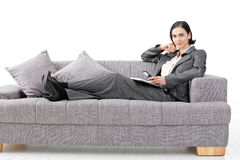 Relaxed businesswoman Royalty Free Stock Photos