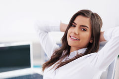 Relaxed businesswoman Royalty Free Stock Image
