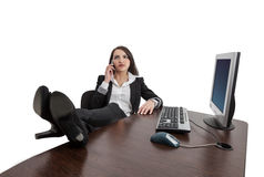 Relaxed Businesswoman on the Phone Royalty Free Stock Image