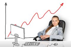 Relaxed businesswoman Royalty Free Stock Images