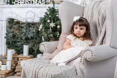 Relaxed calm little girl Royalty Free Stock Photo