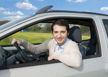 Relaxed car driver Stock Photography