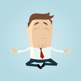 Relaxed cartoon businessman Stock Photos