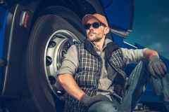 Relaxed Caucasian Truck Driver