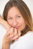 Relaxed confident mature woman portrait Stock Photo
