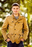 Relaxed confident young man Stock Images