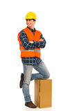 Relaxed Construction Worker. Stock Photos