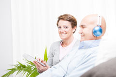 Relaxed contented middle-aged couple Royalty Free Stock Photography