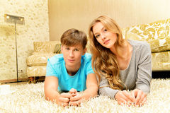 Relaxed couple stock photography