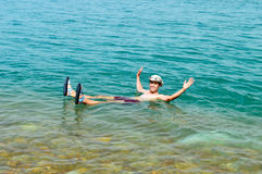 Relaxed at the Dead Sea Royalty Free Stock Photography