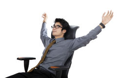 Relaxed and dreaming businessman Stock Photos