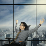 Relaxed and dreaming businessman 1 Royalty Free Stock Photo