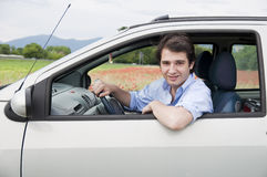 Relaxed driver Stock Photography