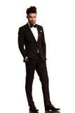 Relaxed elegant man in tuxedo Royalty Free Stock Photos