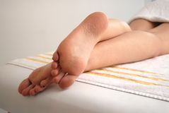Relaxed feet Royalty Free Stock Images