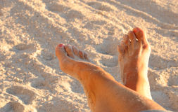 Relaxed feet stock photography