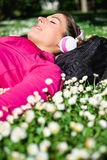 Relaxed female athlete rest Royalty Free Stock Photos