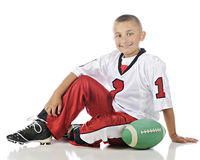 Relaxed Football Player Royalty Free Stock Photography