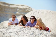 Relaxed friends Stock Photography
