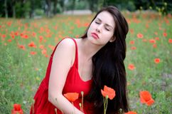 Relaxed girl Stock Images