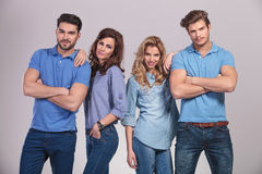 Relaxed group of casual young people Stock Photography