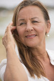 Relaxed happy attractive senior woman Stock Photos