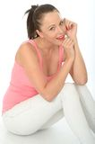 Relaxed Happy Attractive Young Woman Portrait Stock Image