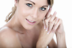Relaxed Happy Healthy Young Woman Stock Image