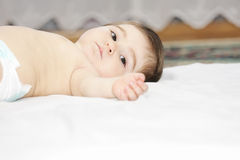 Relaxed infant Stock Photos