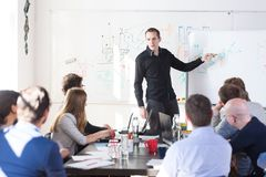 Relaxed informal IT business startup company team meeting. Stock Images