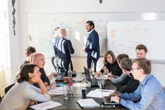 Relaxed informal IT business startup company team meeting. Stock Image